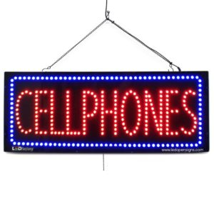 14 inches Wide Extra Bright LEDs #3381 Can Be Seen Through Tinted Windows Green Cross LED Business Sign